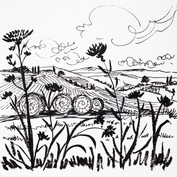 Daily Sketch No. 69, Hay Bales