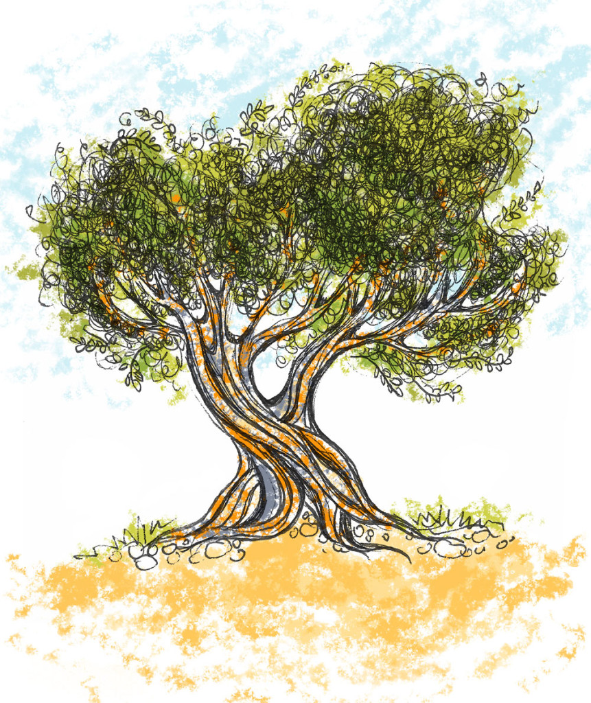 how to make a tree drawing