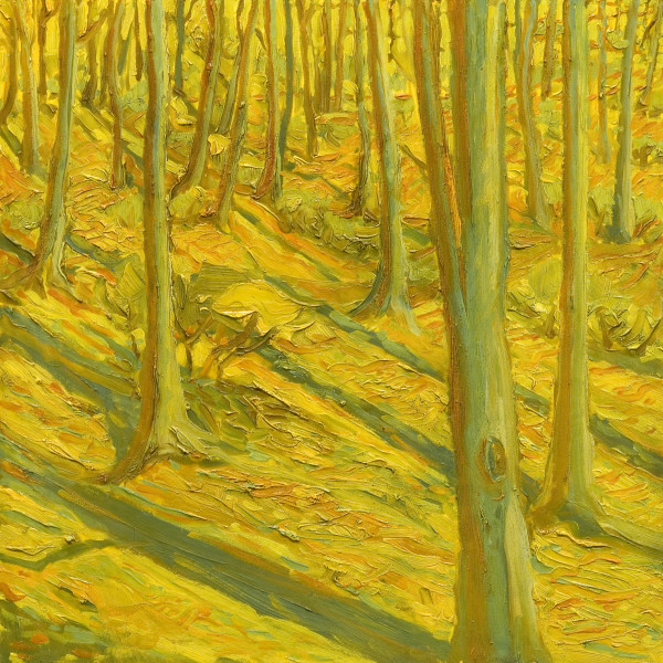 Woods Series No. 6, oil on panel, 12 x 12 inches, 2008