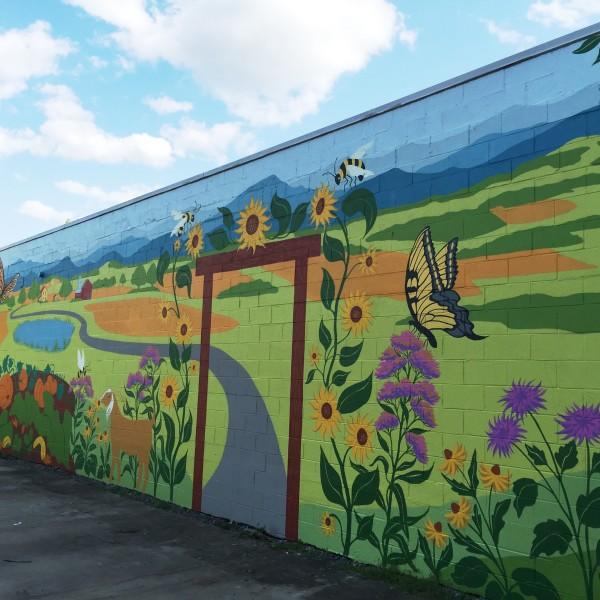 IX Art Park Mural, Charlottesville VA