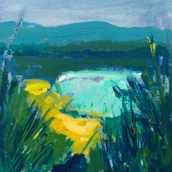Daily Painting No. 214, acrylic on paper, 7.5 x 5.5 inches , 2016-214