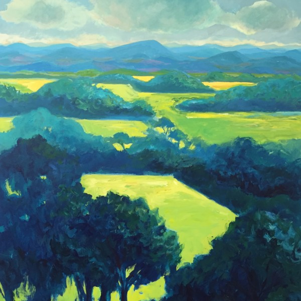 Blue Ridge Landscape No. 2, acrylic on panel, 60 x 48 inches, 2016-256