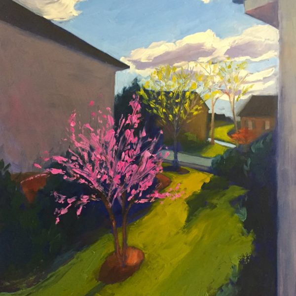 Red Bud, oil on panel, 16 x 12 inches, 2017