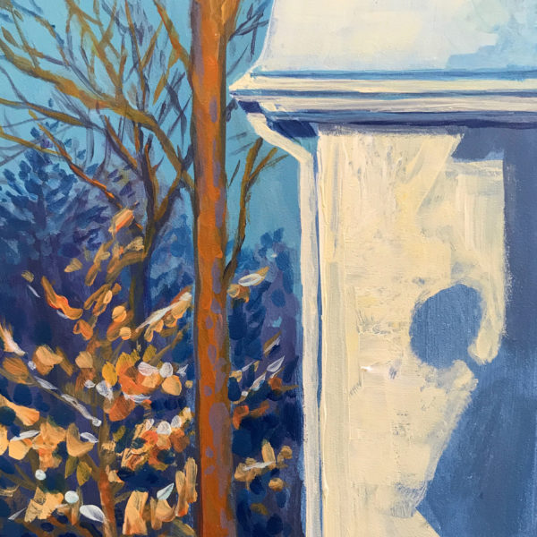 Winter Shadow, acrylic on panel, 7 x 5 inches, 2017-004
