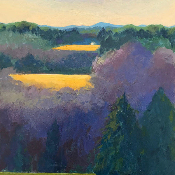Blue Ridge Landscape, acrylic on panel, 8 x 16 inches, 2017-007