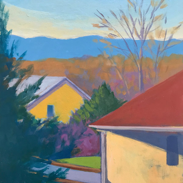 Neighborhood Landscape, acrylic on panel, 8 x 6 inches, 2017-008, SOLD
