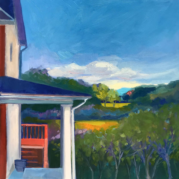 Porch View, oil on panel, 12 x 12 inches, 2017-031