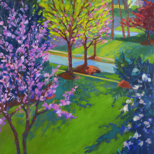 Red Bud II, oil on panel, 16 x 12 inches, 2017-033