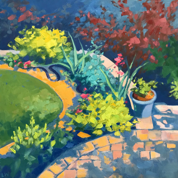 Garden Snake, oil on panel, 12 x 12 inches, 2017-049